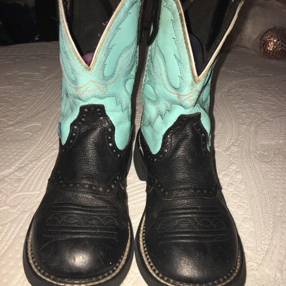 Justin Boots Other - Gemma Light Blue Justin Girls Boot SiZE 8
